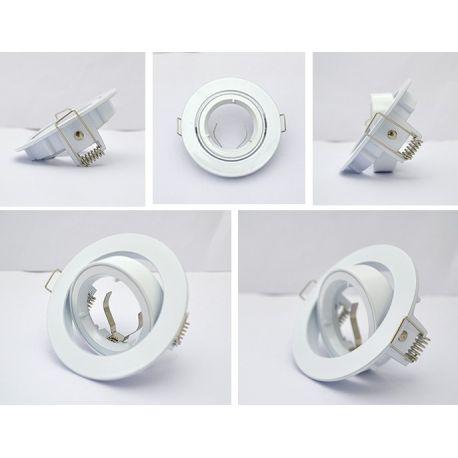 Support Plafond Orientable Vision-EL blanc rond diamètre 93mm
