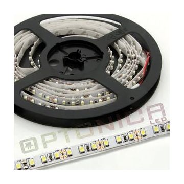 LED STRIP 3528 60 SMD/m Rouge NON-Etanche - Blanc BASE