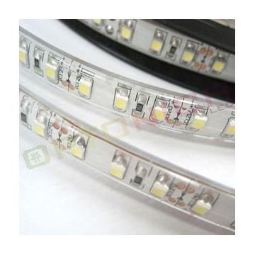 LED STRIP 3528 60 SMD/m Rouge Etanche - SILICONE COVERING - Blanc BASE