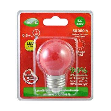 Ampoule LED Globe E27 1W rouge VISION-EL 7618B