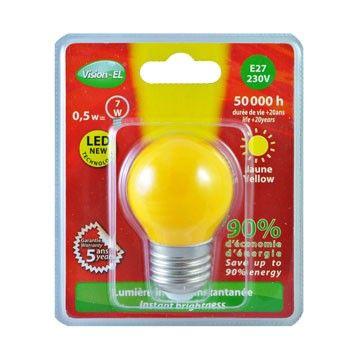Ampoule LED Globe E27 1W jaune Vision-El 7627B