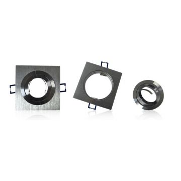 Collerette orientable Vision-EL Argent carré, 92*92mm 7713