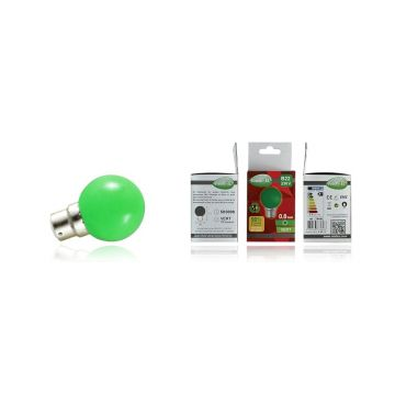 Ampoule LED Vision-EL Globe B22 0,8W vert 7644C