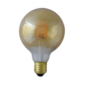E27 8W grand globe à filament 4000K finition golden