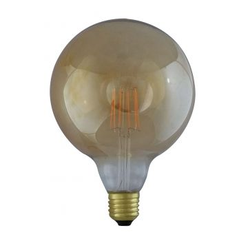 E27 8W grand globe à filament 2700K finition golden