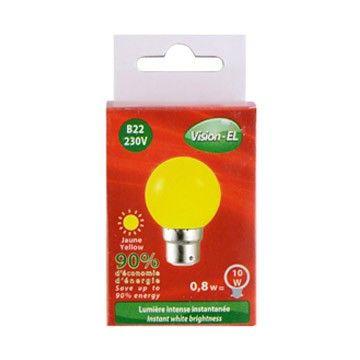Ampoule LED Globe B22 1W jaune VISION-EL 7645C