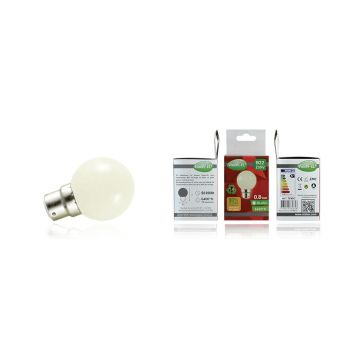 Ampoule LED Vision-EL Globe B22 0,8W blanc froid 7645C