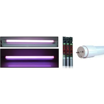 tube LED T8 18W rose