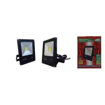 Projecteur LED Plat 20W 6000K Noir VISION-EL 80421N