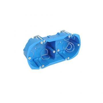 SCHNEIDER Multifix Plus Boîte double prof. 40mm entraxe 71 mm vert / hort