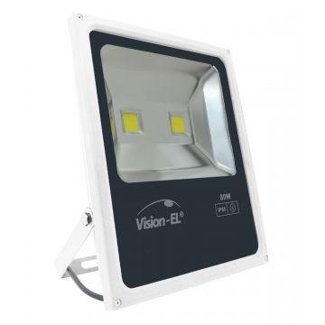Projecteur LED Plat 80W 6000K Blanc VISION-EL 80041W