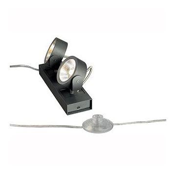 KALU FLOOR 2 LED. à poser. noir. LED 2x10W. 3000K
