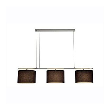 TRIADEM suspension. chrome/noir. 3 diffuseurs ovales. E27 max. 3x60W