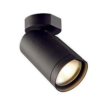 BILAS spot simple. 25° LED. rond. noir. 15W. 2700K. avec patère