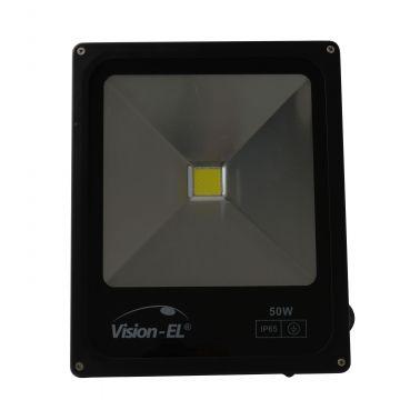 Projecteur LED Plat 50W 6000K Noir VISION-EL 80031N