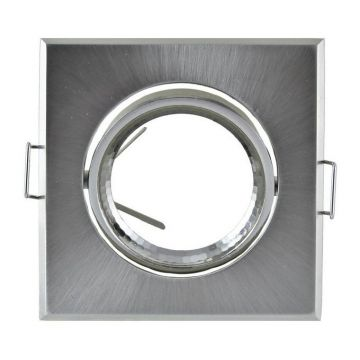 Collerette Vision-EL Carré Orientable dimensions 84x84mm Finition Argent