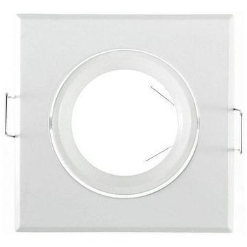 Collerette Vision-EL Carré Orientable dimensions 84x84mm Finition Blanc