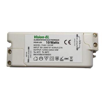 Alimentation électronique pour LED Vision-EL 10W 12V DC 0.85A