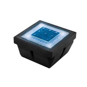 Pavé LED solaire encastrable éclairage bleu