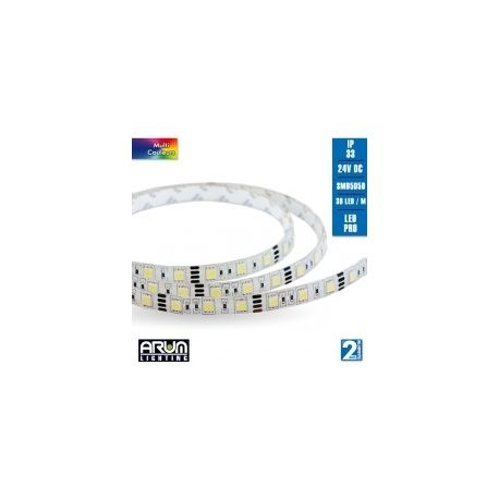 Ruban LED RGB 5M 24V 7.2W/M