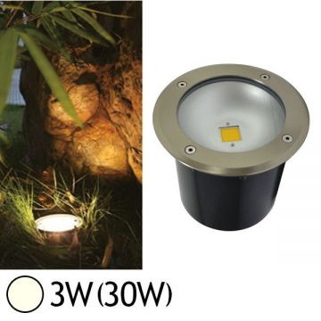 Spot LED rond encastrable au sol 3W 4500°K  IP67 VISION-EL 7070
