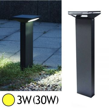 Borne Lumineuse LED 3W 3000°K ANTHRACITE IP54 Vision-EL 7000