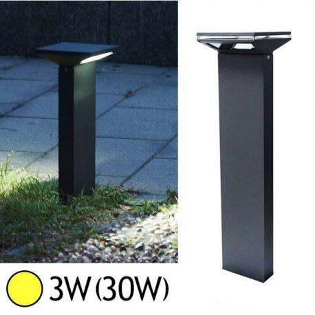 Borne Lumineuse LED 3W 3000°K ANTHRACITE IP54 Vision-EL 7000