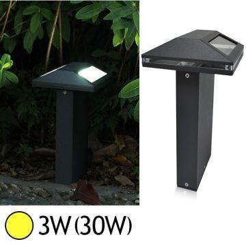 Borne Lumineuse LED forme pyramidale 3W 3000°K ANTHRACITE IP54 Vision-EL 7002