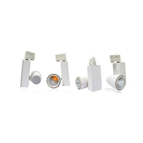 SPOT LED SUR RAIL 30 WATT BLANC 3000°K IP54 230V