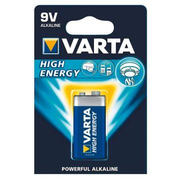 6LR619V Blister de 1 pile 9V VARTA (Boîte de 12 Pcs) - Lumihome