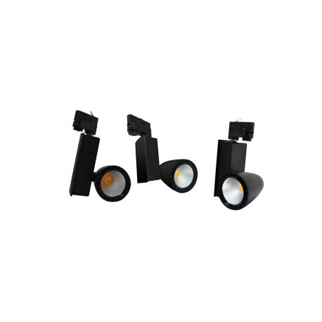 SPOT LED SUR RAIL 30 WATT NOIR 4000°K IP54 230V
