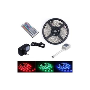 Pack Ruban LED 5M RGB SMD3528 IP65 télécommande 44 touches