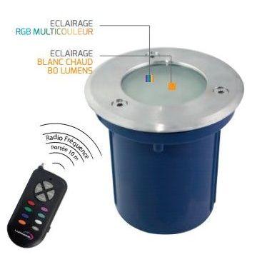 Spot encastrable 15 LED 12V RGBW 100mm LUMIHOME