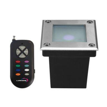 Spot encastrable carré LED COB RGB multicouleur LUMIHOME