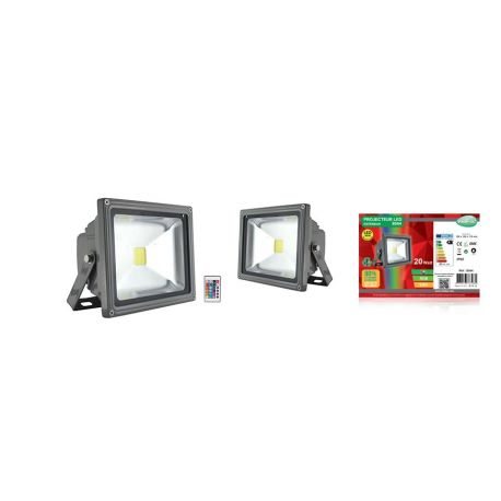 PROJECT LED VISION-EL 230 V  20 WATT RGB GRIS IP65 IR