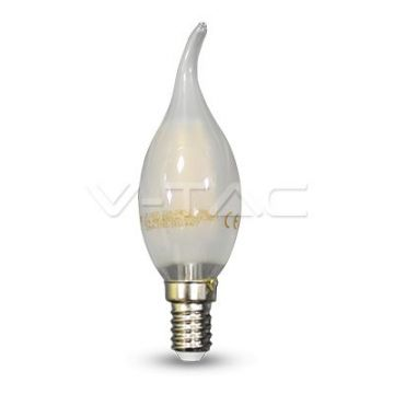 Ampoule LED 4W Filament E14 Bougie Opaque Tail 4000K VT-1937