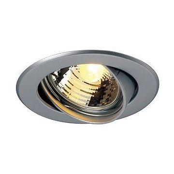GU10 SP encastré, rond, gris argent, max. 50W