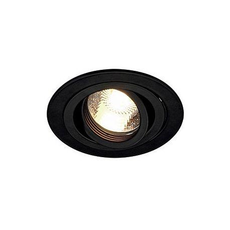 NEW TRIA GU10 ROND encastré, noir mat, max. 50W, lames ressorts
