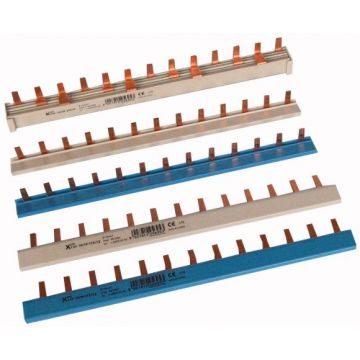 Barre de pontage, 1phase, pour PLN. (1PE), Z-SI, droite bleue