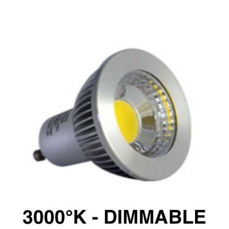 Ampoule LED COB 6W 3000k Dimmable ALU