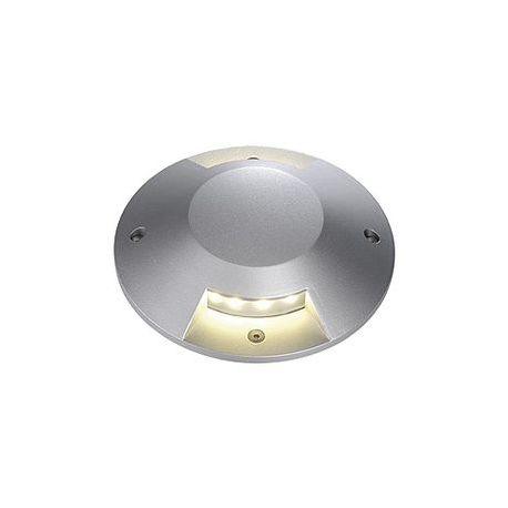 BIG LED PLOT rond, 2 fenêtres, gris argent