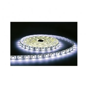 BANDE LED  BLANC 6000°K  5 M  60 LEDS  14.4 W / M IP67 24 SILICON