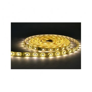 BANDE LED  BLANC 3000°K  5 M  60 LEDS  14.4 W / M IP65 24V EPOXY