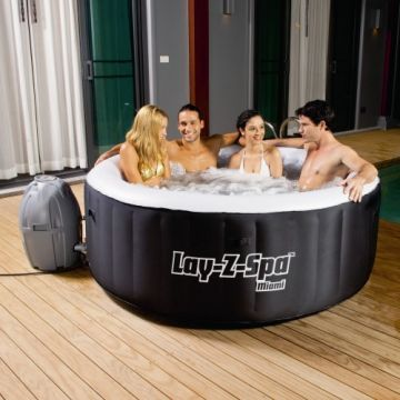 Bestway 54123 Lay-z-Spa Rond - Miami Gonflable 2/4 Places