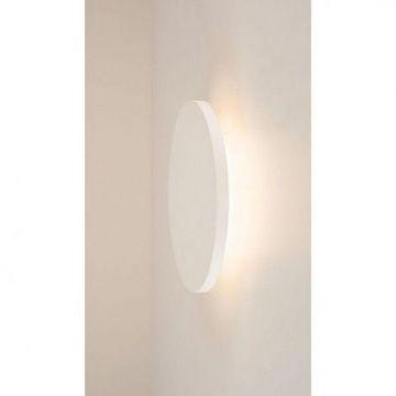 PLASTRA, applique plafonnier, rond, plâtre blanc, LED 7,4W 3000K