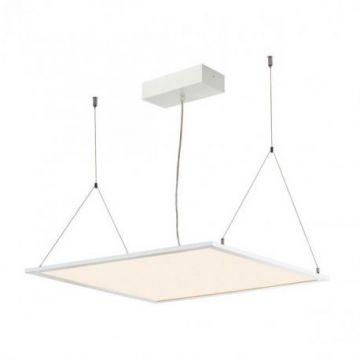 I-VIDUAL LED Panel pr plafond à dalle, 59,5x59,5cm, gris argent, 4000K