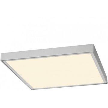I-VIDUAL LED Panel pour plafond à dalles, 62x62cm, gris argent, 4000K