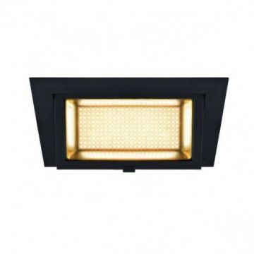ALAMEA LED, encastré, noir, LED 45W 3000K
