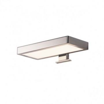 DORISA LED, luminaire de miroir, rectangulaire, chrome, LED 6,6W 4000K, IP44