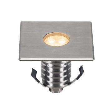 DASAR 100 PREMIUM PRO, encastré de sol, carré, 5,5W, 60°, 3000K, boîtier et collerette inox 316